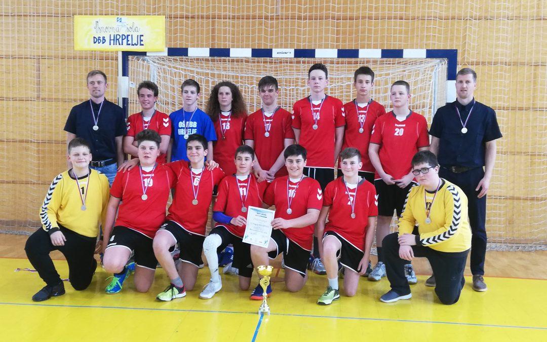 Rokometaši naše šole v finalu Slovenije vzeli srebrno medaljo